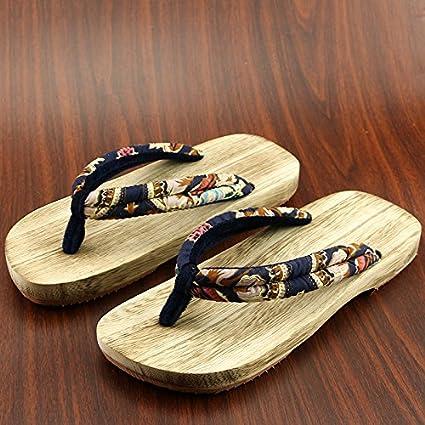 codice promozionale f823e 9feda XIAMUO Giapponese di zoccoli di legno maschio e femmina ...