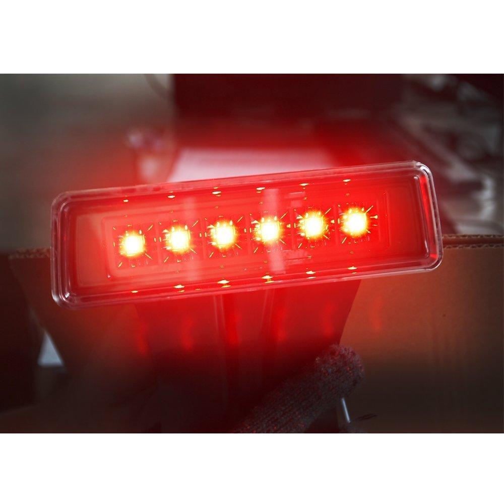 2 Years Warranty Liteway Jeep Wrangler LED Tail Light /& Smoke Lens 3rd Brake Light for Jeep Wrangler JK 2007-2016