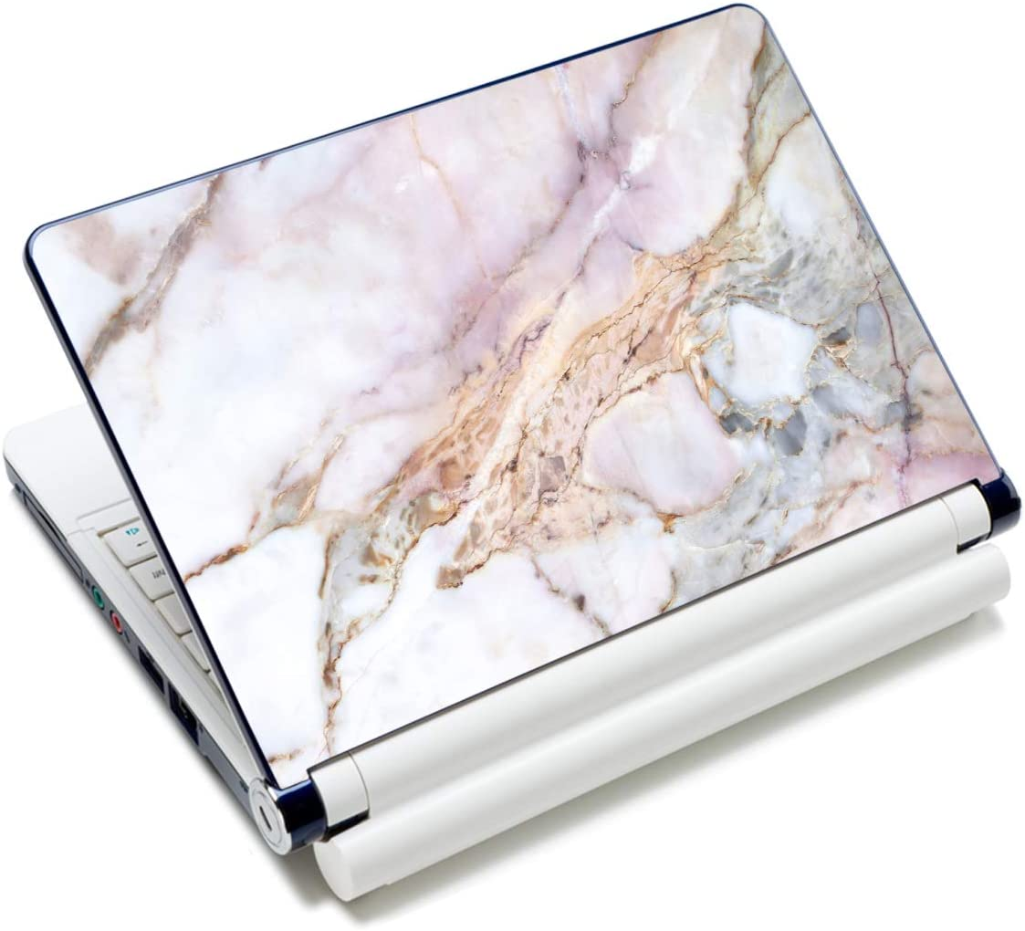 "iColor Laptop Skin Sticker Decal,13"" 13.3"" 14"" 15"" 15.4"" 15.6 inch Laptop Skin Sticker Cover Art Decal Protector Notebook PC (Marble, Art Deco)"