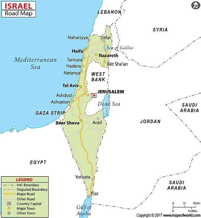 Amazon.com : Israel Highway Map (36\