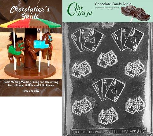 Cybrtrayd Dice with Aces Chocolate Candy Mold with Chocolatier's Guide Instructions Book Manual (Chocolate D And D Dice compare prices)
