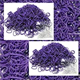 1200 Rubber Purple Color Bands Loom Refill with 50 Clips & Free SH New