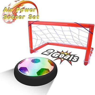 PUZ Toy Regalos para Niños de 4-7 Años Hover Ball Portería Set Juegos al Aire Libre Juguetes de Interior Regalos para Niños 3-5 Años: Juguetes y juegos