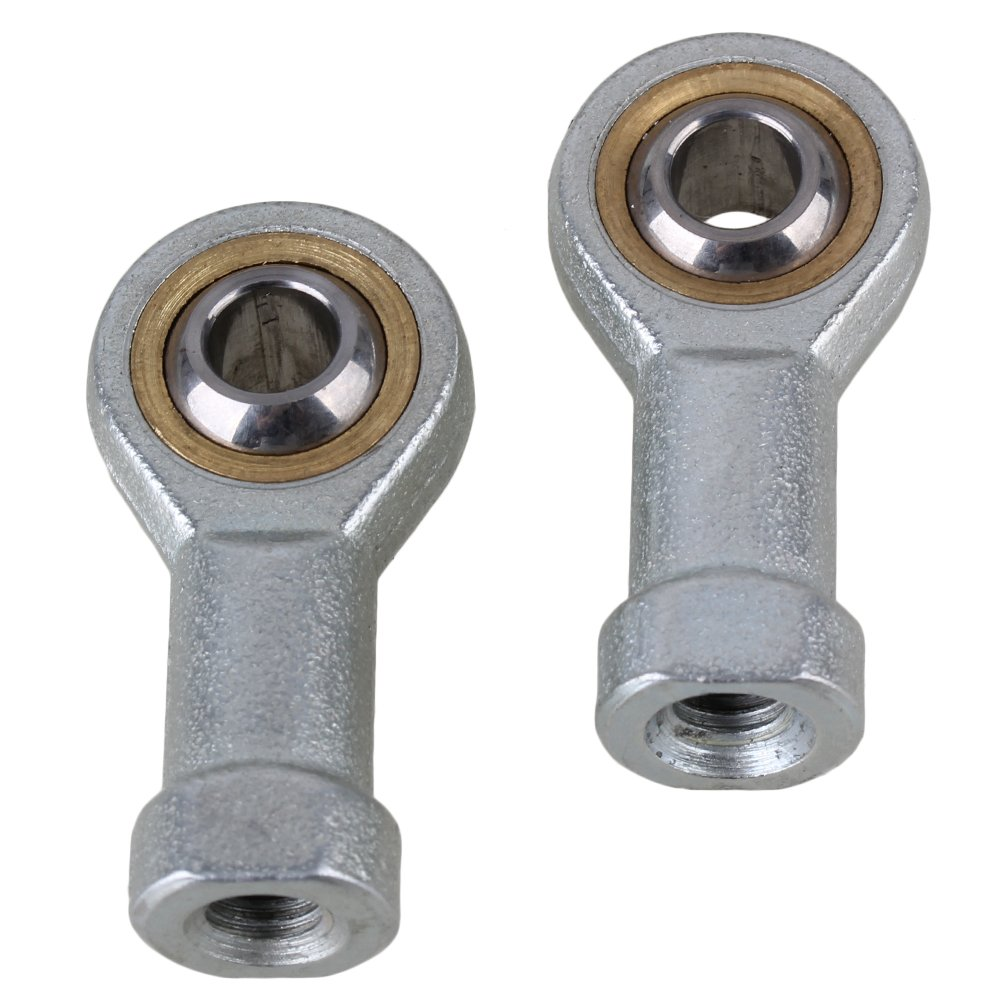 CNBTR 8mm Female Rod End Left Hand Zinc Alloy Metric Threaded Joint Bearing Pack of 2 yqltd