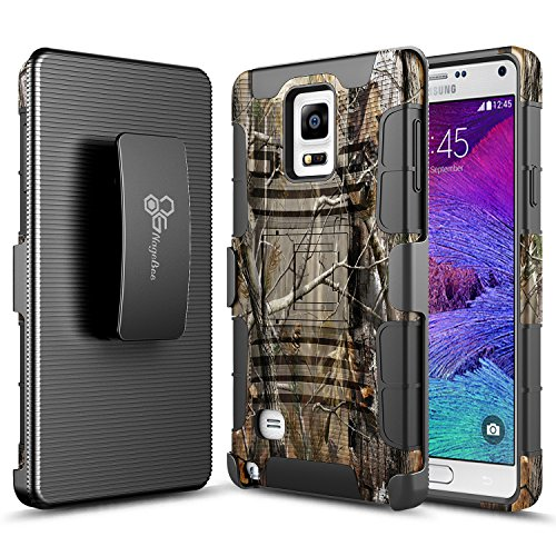 Note 4 Case,Glaxy Note 4 Case, NageBee [Heavy Duty] Armor Shock Proof Dual Layer [Swivel Belt Clip] Holster with [Kickstand] Combo Rugged Case for Samsung Galaxy Note 4 - Camouflage