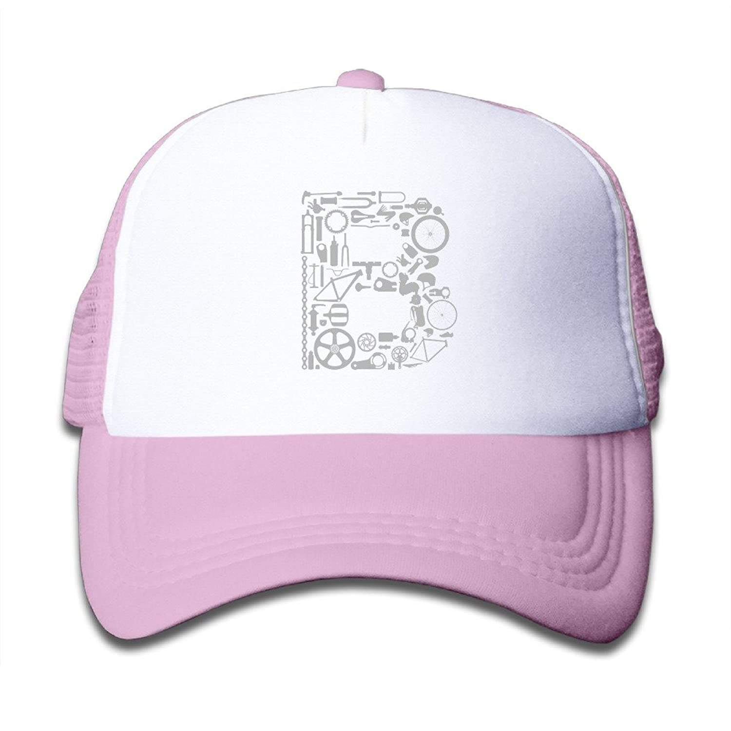 Printed Bike Girl Adjustable Mesh Trucker Cap Protection Boys Hats