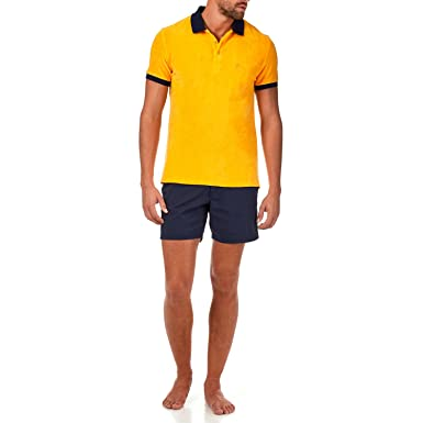 Vilebrequin Constrated Terry polo - Men - turmeric - L