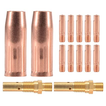 Accesorio de soldadura MIG - Kit de 10 piezas Tubo de Contacto M6 (0,