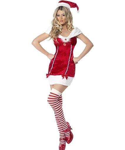 Smiffys - Disfraz de Mamá Noel para mujer (talla 16-18 ...