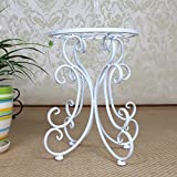 Antiseptic Wood Flower Stand Iron Flower Stand Indoor/Outdoor Flower Stand Floor-Standing Flower Stand Modern and Simple Flower Stand Flower Pot Shelf Strong Bearing Capacity