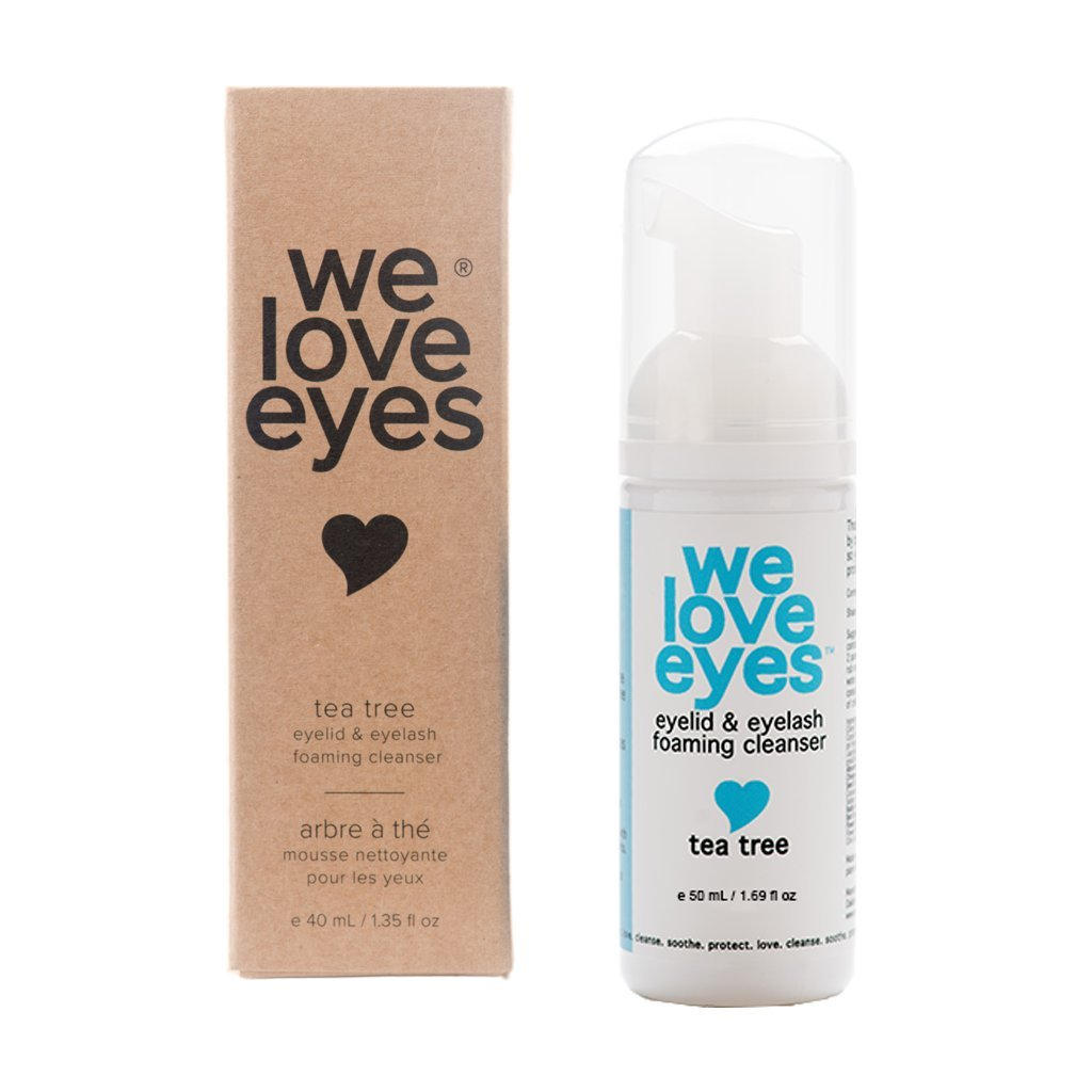 All Natural Tea Tree Eyelid Foaming Cleanser/Wash - We Love Eyes -Blepharitis, Demodex, Dry Eyes Relief and treatment, Wash Eyelashes, Reduce Itching and Inflammation, Paraben & Sulfate Free -50 ml by We Love Eyes