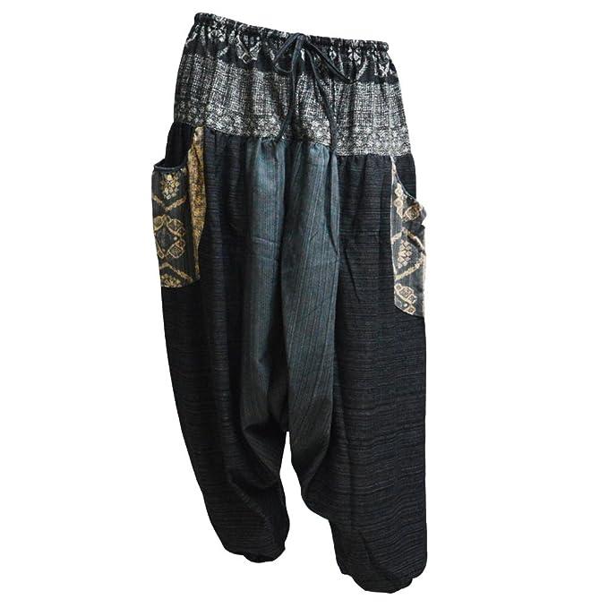 Amazon.com: missbangkok 100% algodón a rayas verano Baggy ...