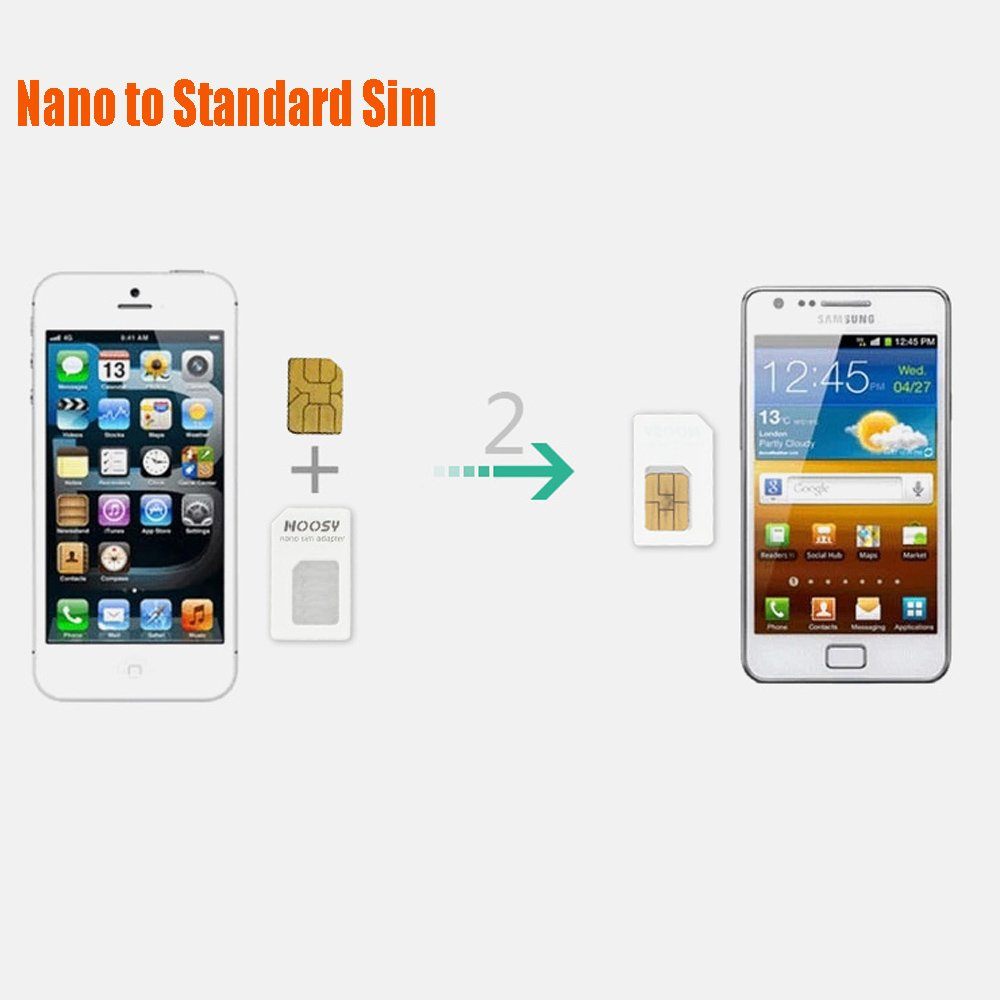 Noosy Sim Card Adapter Kits With Nano And Nossy Micro Cell Phones Accessories