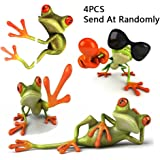 2PCS  Frog Wall Decal For Wall Stickers & Murals , PVC Sticker With 3D , Vinyl Paper House Decoration , Waterproof Easy to Apply Wallpaper For Truck Window , Car , Computer , Ipad , Laptop ,Rearview Mirror