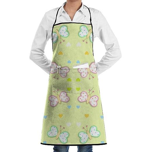 Delantal de chef de cocina ajustable de mariposas para bebés con ...