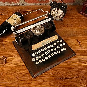 Su @ da Retro Home Living habitación antiguo juguete máquina de escribir Creative decoración de casa decoración Nostalgia decoración manualidades typewriter ...