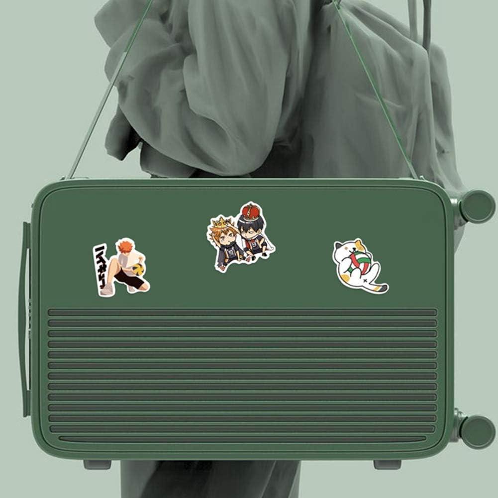 Zhenzhiao 50Pcs Anime Haikyu PVC Impermeabile Adesivi Vinile Adesivi Decalcomania No-Duplicate per Auto Bagaglio Arredo Casa Ventole Regali Haikyuu Computer