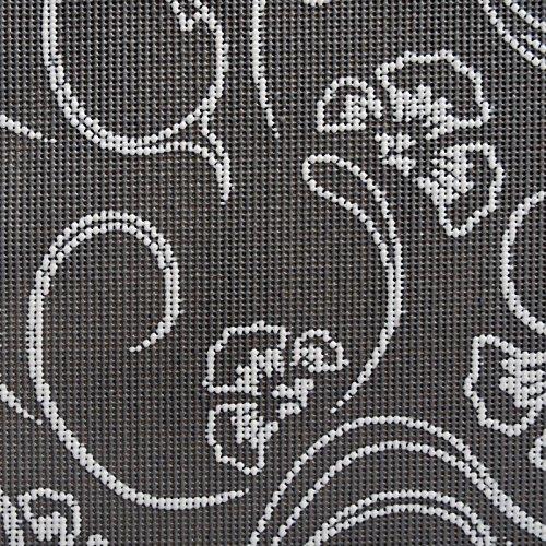 casa pura® Tischdecke Iris   Dunkelgrau mit hellem Blumenmuster   Weichschaum für Garten und Balkon   rechteckig 130 cm x 160 cm
