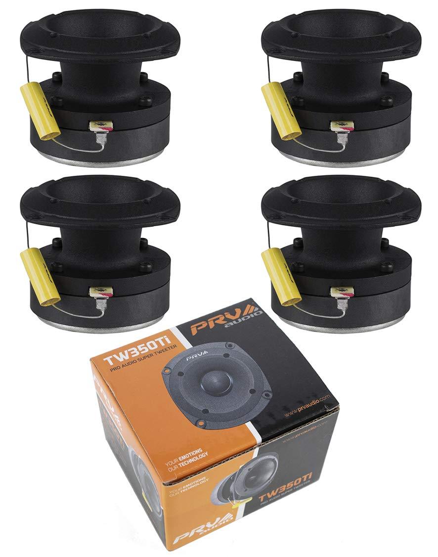 2 Pair PRV Audio TW350Ti Titanium Bullet Pro or Car Super Tweeter 480W 8 ohms