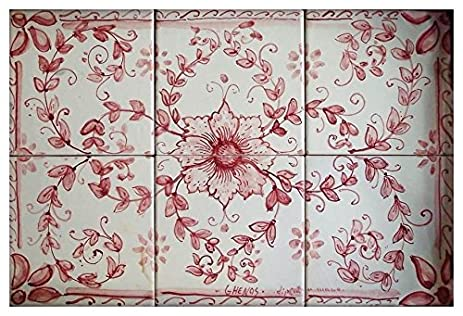 Amazon Handpainted Italian Ceramic 118 Inch Wall Tile Mural