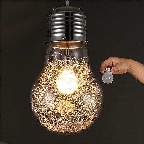 Personalidad creativa luces colgantes hierro vidrio bombilla ...