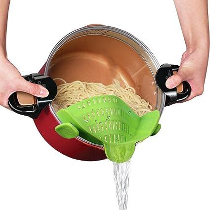 Colador de cocina con clip de silicona para colador de alimentos ... 4e5af239c1fa