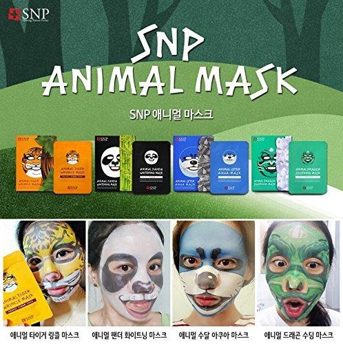SNP Animal Otter Aqua Mask *10ea (Animal Face Mask)