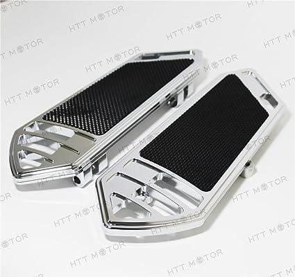 Chrome Billet Passenger Mini Footboard Set With Wave Design For Harley-Davidson
