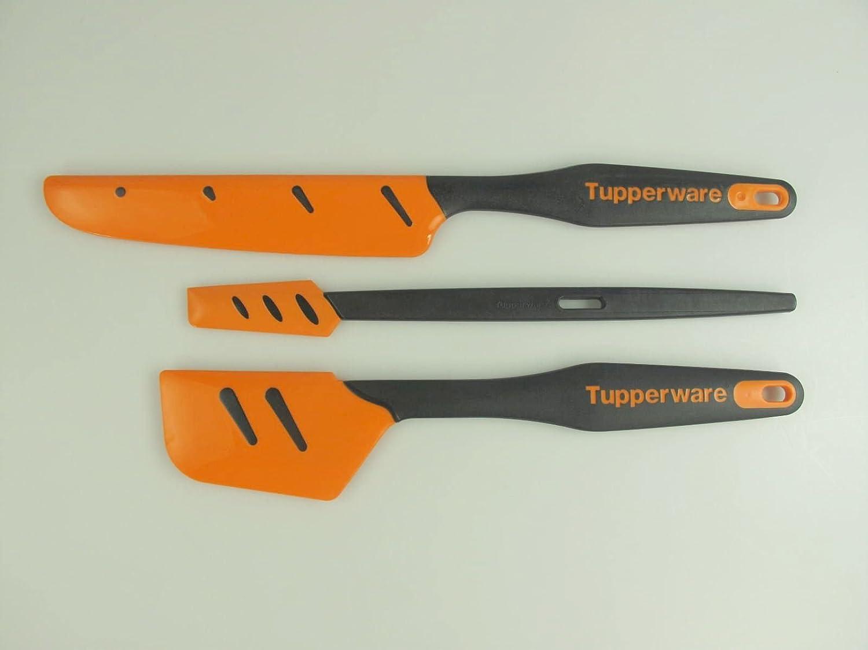 26854 2 TUPPERWARE Griffbereit Kleiner Top-Schaber schwarz-orange Teigspachtel