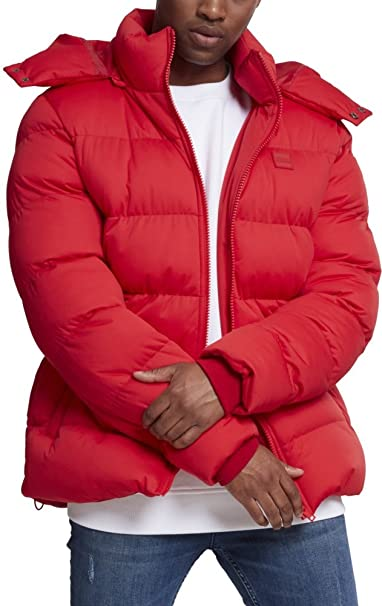 Hooded Boxy Puffer Jacket, Chaqueta para Hombre, Rot (Fire Red 00697), XX-Large Urban Classic