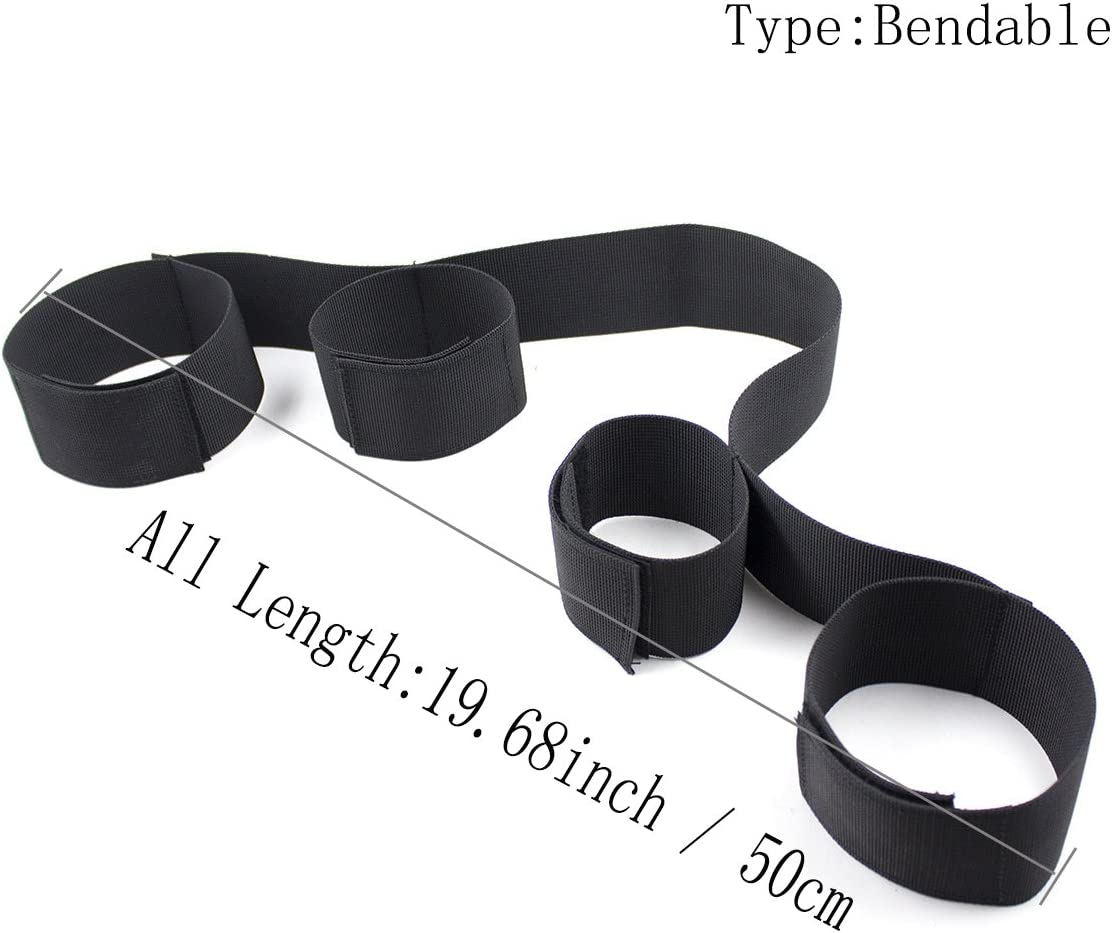 Leather Straps Tie Set Adjustable Wrist /& Thigh Cuffs Yoga Restraint System Kit Sports Training aid Tools for Legs
