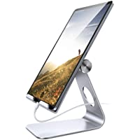 Tablet Stand Adjustable, Lamicall Phone Stand : Desktop Stand Holder Dock Compatible with Phone Xs Max XR, New iPad 2018…