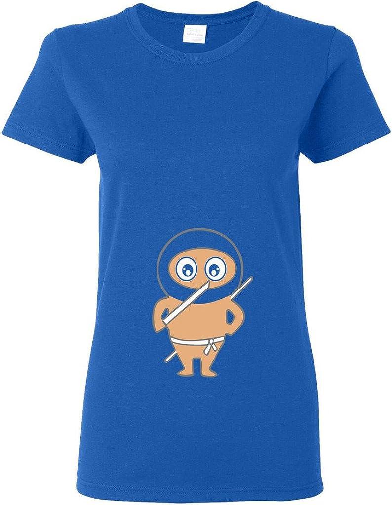 Ladies Ninja Baby Funny DT T-Shirt Tee