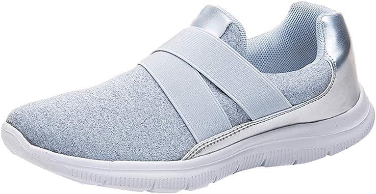 Sunenjoy Chaussures de Course pour Femmes Slip on Poids