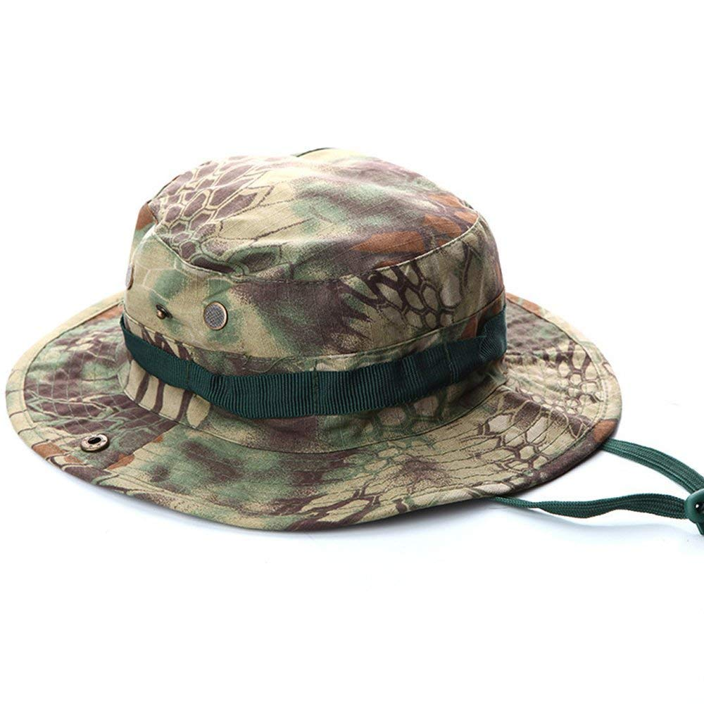 Tekma Sport Boonie Hat – Great Sun Protection While Playing or Working Outdoors This Navy Blue, Green Digital Multicam or Desert Camo Bucket Hat is Ideal for Keeping Cool and Avoiding Sunburns
