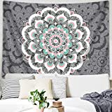 Sunm boutique Tapestry Wall Hanging Indian Mandala Tapestry Bohemian Tapestry Hippie Tapestry Psychedelic Tapestry Wall Decor Dorm Decor(Colorful,51.2''x 59.1'')