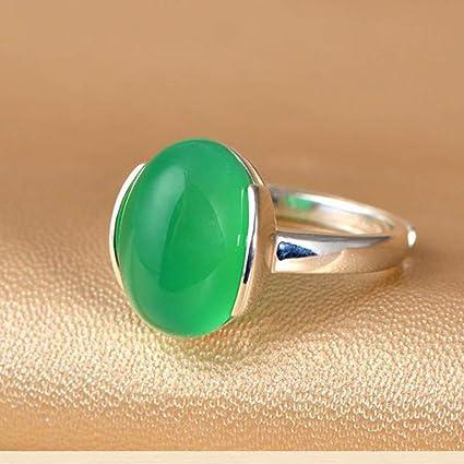 bague homme jade vert