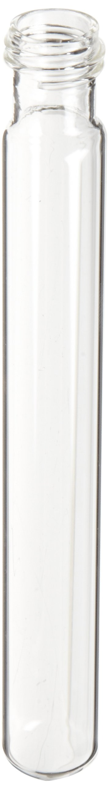 Chemglass CLS-4208-10 Glass 4.5mL Hungate Anaerobic Culture Tube, with Screw Thread 16mm Diameter x 125mm Height (Pack of 100)