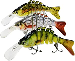 ROSE KULI Fishing Lures for Bass Multi Jointed Hard… Sweepstakes