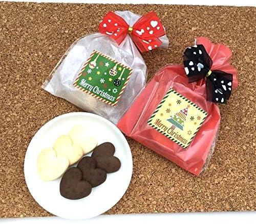 【プチギフト】 クリスマスクッキー (ハートクッキー 6枚)