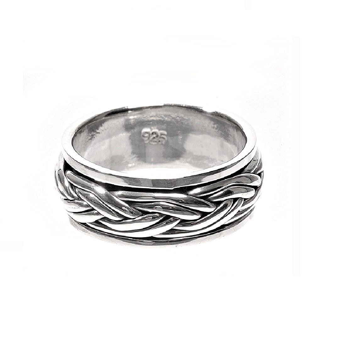Princess Kylie 925 Sterling Silver Double Braided Loop Ring
