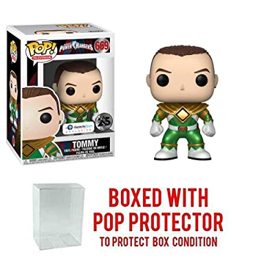 Pop Funko Television Power Rangers: Unmasked Metallic Tommy Collectible Figure, Multicolor: Toys & Games
