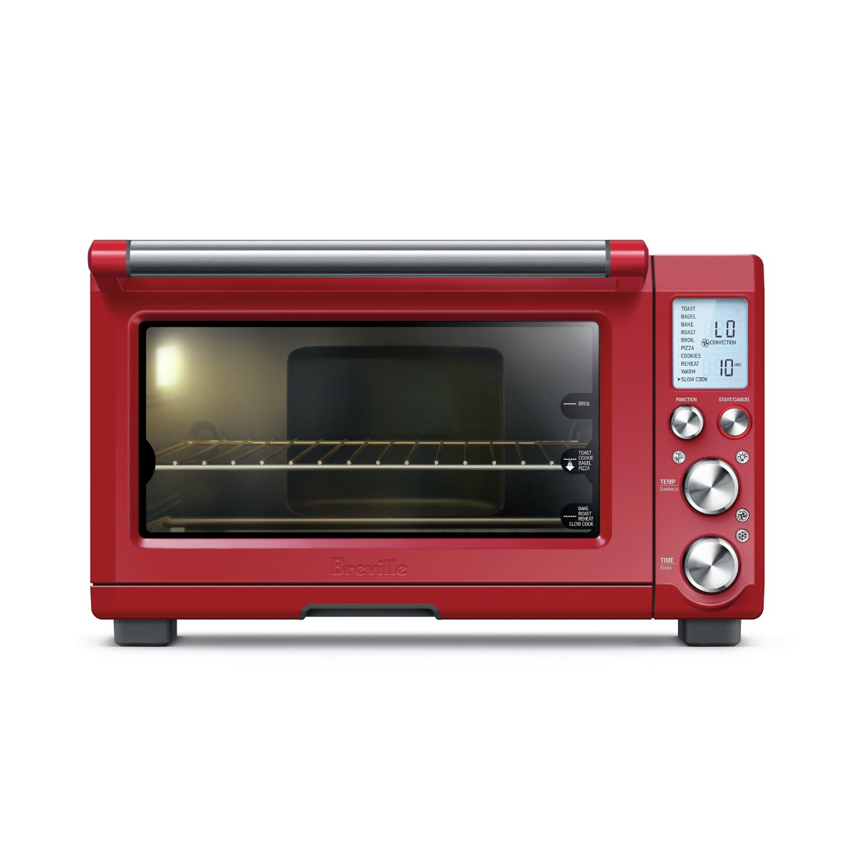Breville BOV845CRNUSC Smart Pro Countertop Convection Oven Cranberry Red