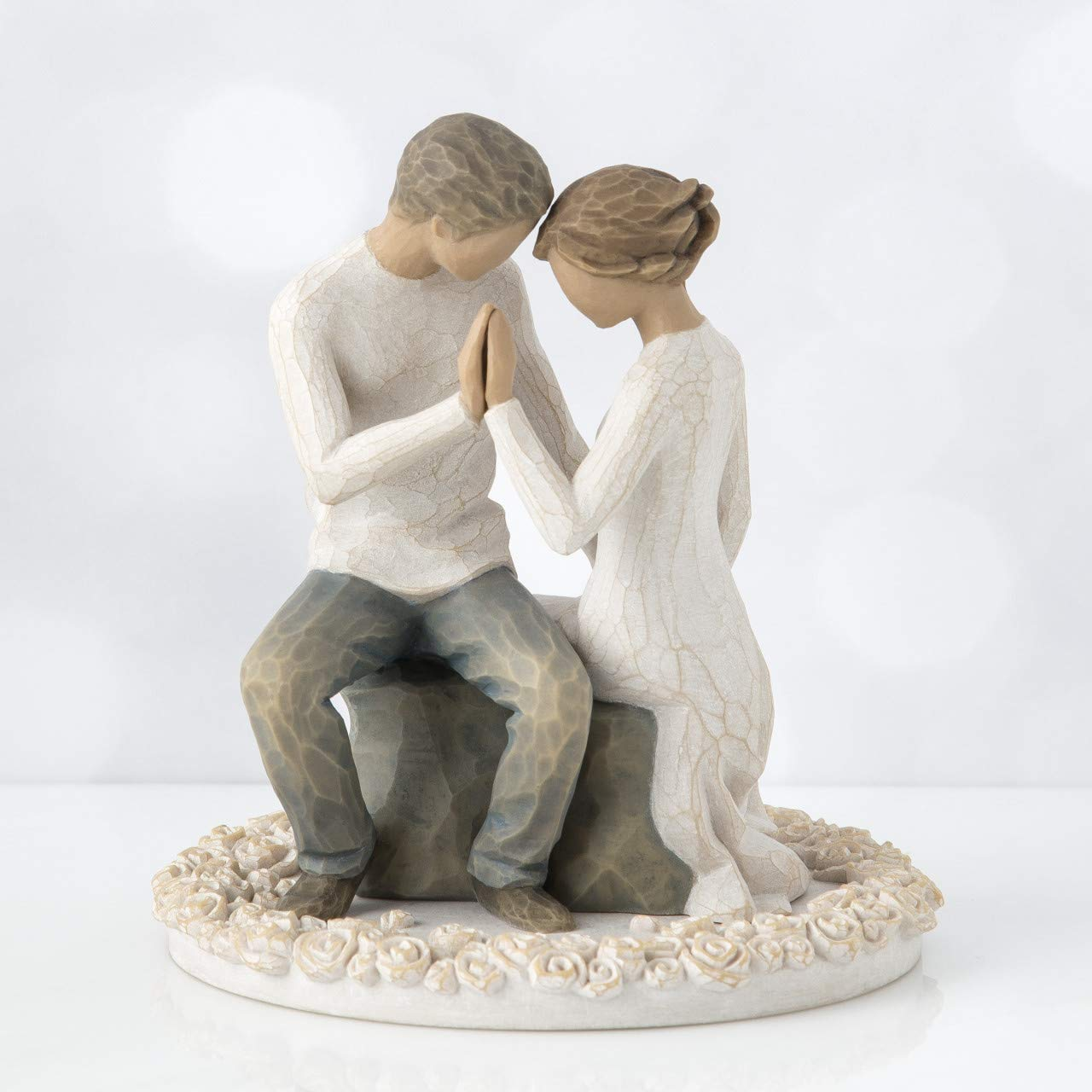 Willow Tree Around You, sculpted hand-painted cake topper by Willow Tree (Image #4)