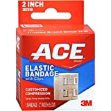 ACE Elastic Bandage With Clips Customized Compression 2 Inches 1 Each ( Pack of 3)