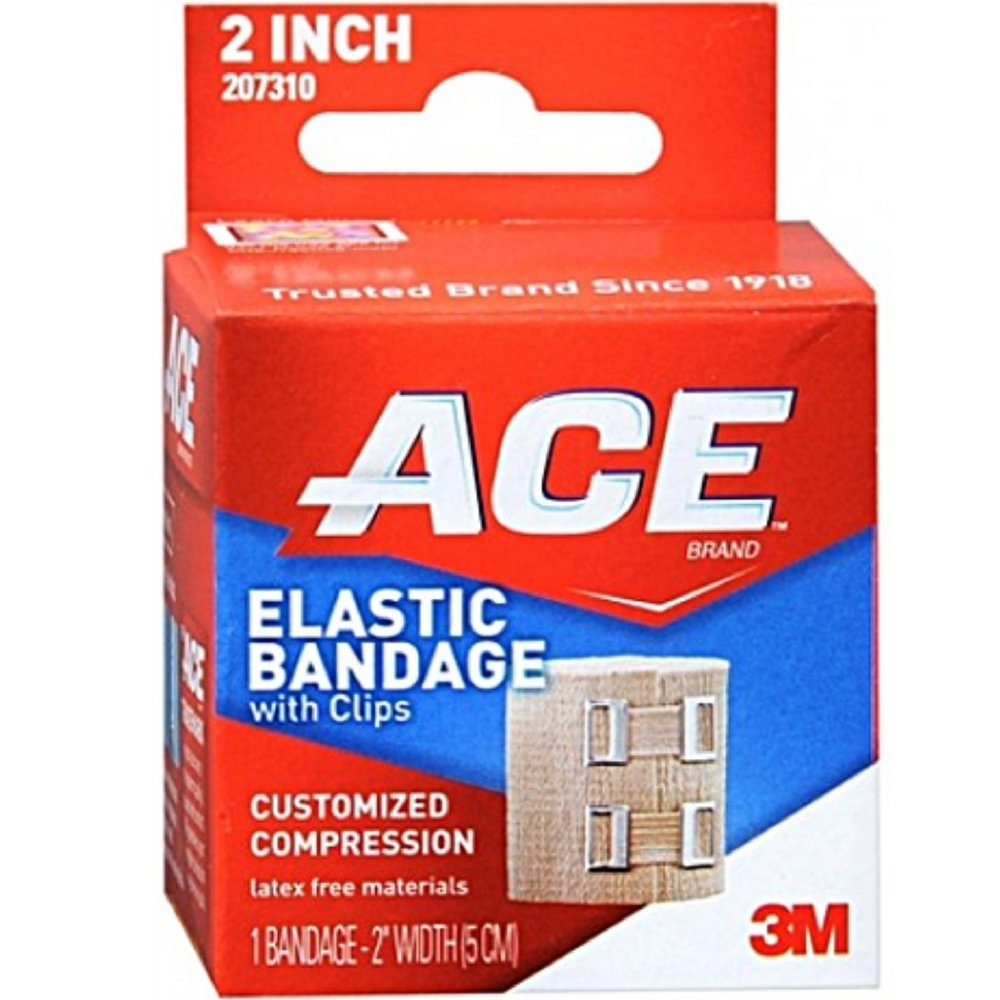 ACE Elastic Bandage With Clips Customized Compression 2 Inches 1 Each ( Pack of 12) by 3M CONSUMER