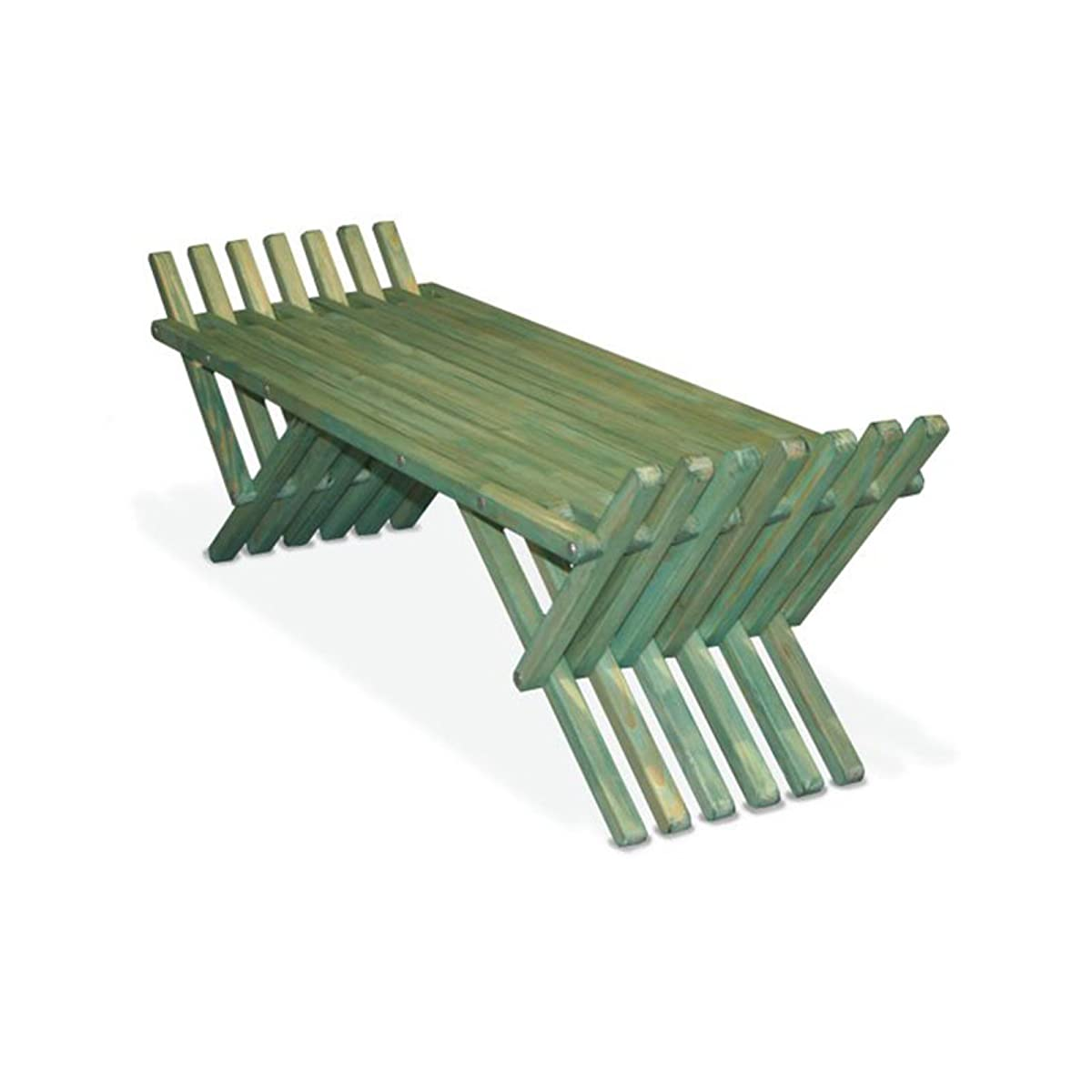 GloDea Xquare French X90 Wooden Backless Garden Bench