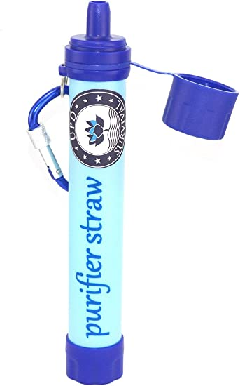 """7"""" inch Portable Water Filter Straw Purifier Life Survival Gear Hurricane Supply"""
