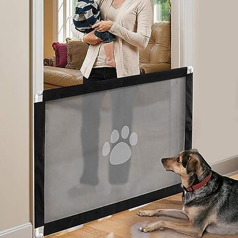 PETCUTE Barreras para Perros Extensible Barrera para Escalera Barrera Seguridad para niños Perros Retráctil: Amazon.es: Productos para mascotas