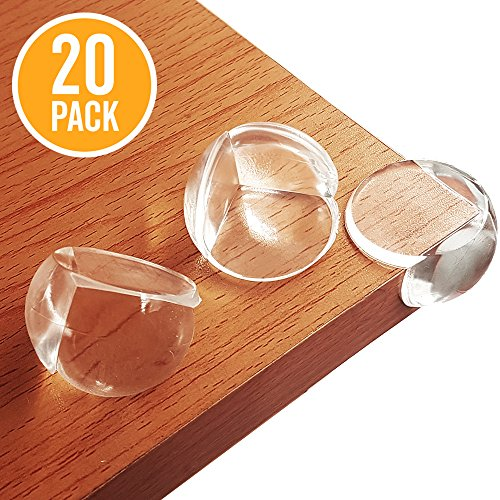 OTIVA Corner Guards, Soft Clear Baby Proofing Corner Protector With Adhesive, Safety Table Corner Cushion, Keep Children Safe, Stop Child Injuries, Furniture & Sharp Corners, Ball-Shaped (Safe Table)